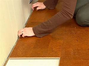 Natural cork flooring diy for How to install floating cork flooring