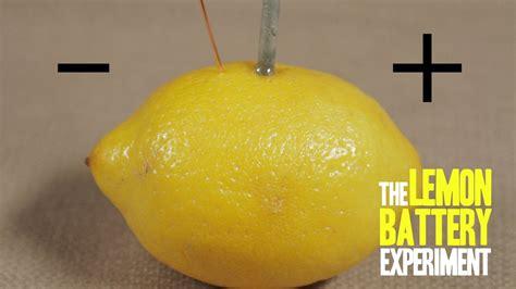 How To Make A Lemon Battery Youtube