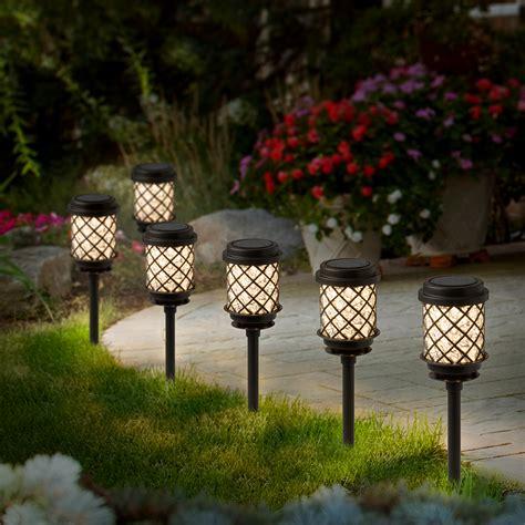 iluminacion  jardin lamparas solares tipo faroles