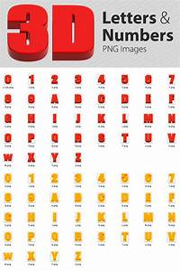 3d number png images for 3d letters and numbers