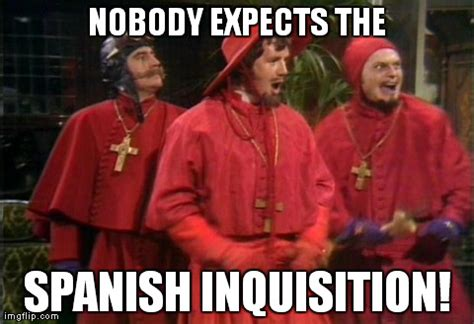 Spanish Inquisition Meme - cleverbot s converstations eviebot and boibot too discuss scratch