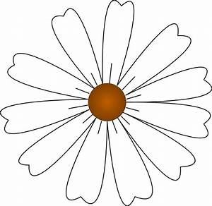 White Daisy Clip Art at Clker.com - vector clip art online ...