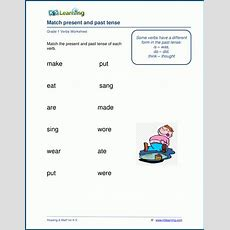 Verb Worksheet Past And Present Tense  K5 Learning