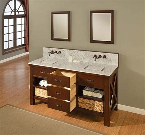 Amador (double) 70inch Transitional Bathroom Vanity