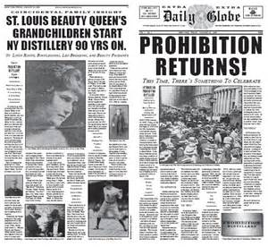 1920s Prohibition Newspaper Headlines
