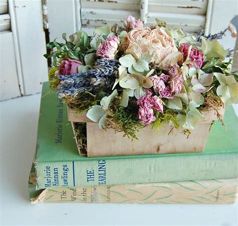 shabby chic floral arrangements spring dried flower arrangement shabby cottage dried floral