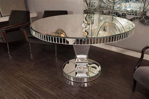 round mirrored dining room table custom round mirrored dining table for sale at 1stdibs