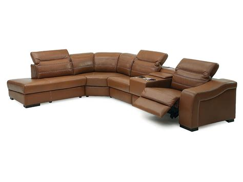 palliser infineon leather reclining sectional collier s