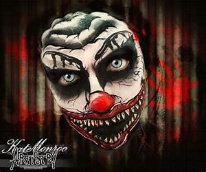 Killer clown face paint Halloween | The most wonderful ...
