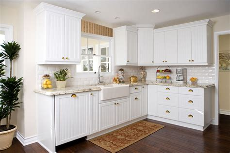 Beadboard Kitchen Cabinet Doors Kitchen Traditional With