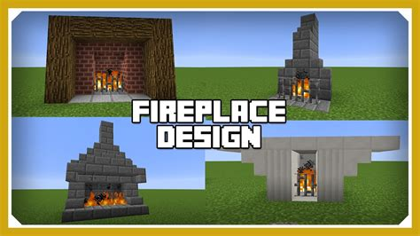 minecraft   build  fireplace design tutorial easy survival minecraft house youtube