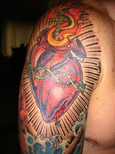Heart Half Sleeve Tattoo