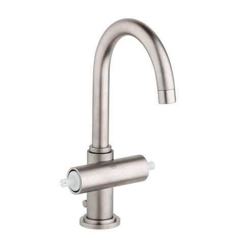 elements  design bathroom brushed nickel faucet