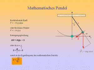 Pendelkosten Berechnen : fadenpendel systemphysik ~ Themetempest.com Abrechnung
