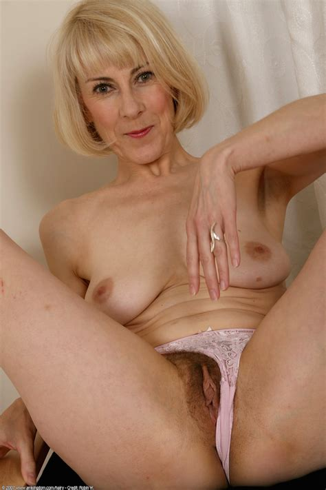 Hairy Mature Blonde Milf Hazel May With Plump Pussy