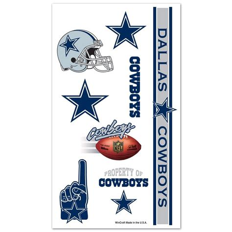 cowboys colors dallas cowboys team logos colors temporary tattoos nwt nfl