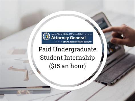paid undergraduate student internship   hour paid