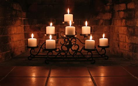 candles in fireplace candle hd wallpaper and background 1920x1200 id