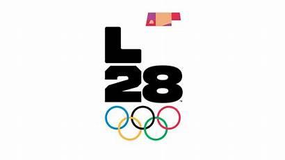 2028 Olympic Olympics Logos Games La28 Dynamic