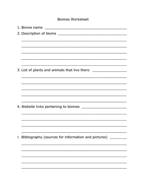 11 best images of biome activity worksheet printable