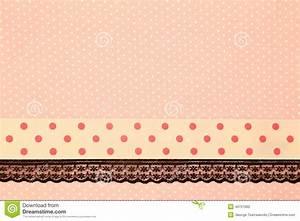Pink Retro Polka Dot Textile Stock Photo - Image: 49721662