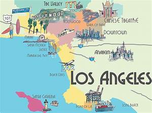 Los Angeles California - Map Of Greater L a With