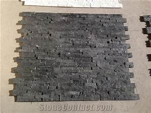 Decorative natural stone china black slate outdoor