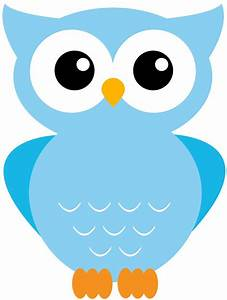 Owl clipart blue owl - Pencil and in color owl clipart ...