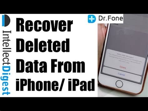data from iphone recover deleted data from iphone with dr fone