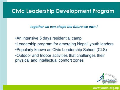 civic leadership development program powerpoint