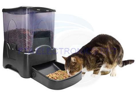 timed cat feeder large automatic food portion cat pet
