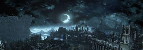 dark souls dark souls iii video games sky clouds moon