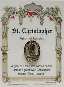 Saint Christophe Patron : pin patron st christopher lapel pins general pleroma christian supplies ~ Medecine-chirurgie-esthetiques.com Avis de Voitures