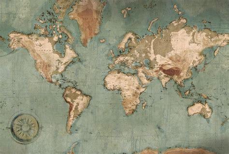 chambre atlas poster mappemonde vintage carte du monde géante