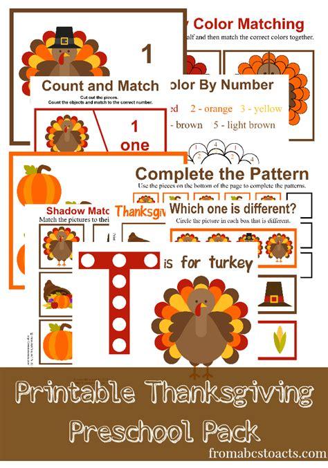 printable thanksgiving preschool pack preschool learning 927   c89a6f8b562133874683cede53eb4346