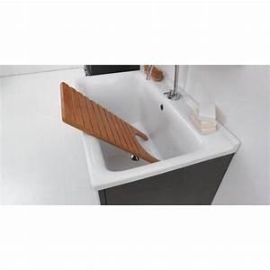 Lavatoio 60x50 in ceramica con mobile a terra sifone for Lavatoio ceramica con mobile