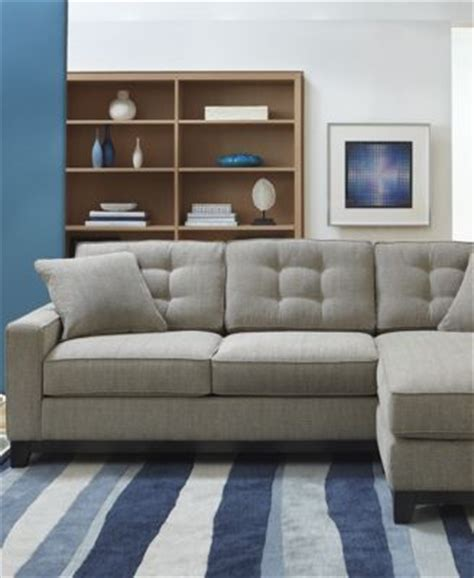 clarke fabric 2 piece sectional sofa clarke fabric 2 piece sectional sofa furniture macy 39 s