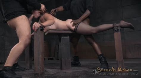 Spit Roasted Bondage Slave Used By Two Guys Bdsm Porn