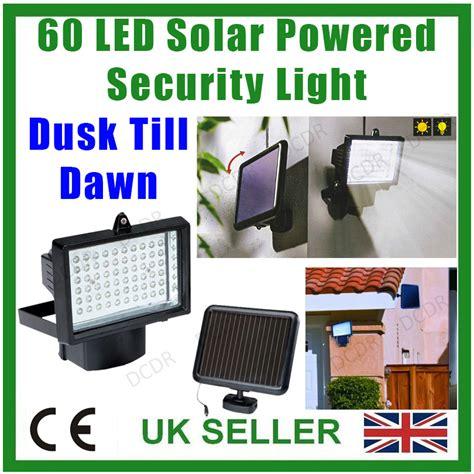 dusk till dawn security light 60 led rechargeable solar security dusk dawn light