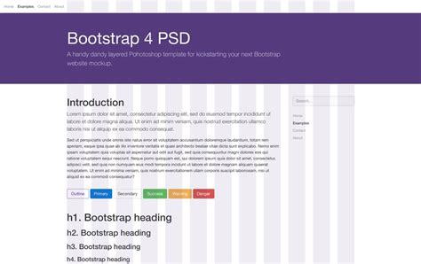 bootstrap 4 templates free 50 best free bootstrap 4 templates 2018 187 css author