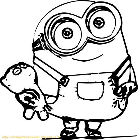 10 gambar mewarnai minions untuk anak paud dan tk