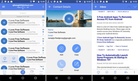 icloud mail on android 4 free apps to access icloud mail on android