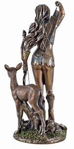 Artemis, Goddess, Of, The, Hunt, Bronze, Figurine, 25, Cm