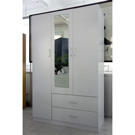 White Wardrobe With Drawers And Mirror by Modern 3 Door 2 Drawer Wardrobe With Mirror White Buy