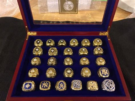 york yankees world series championship  rings set