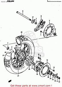 Suzuki Dr650reu 1995  S   E22  Rear Wheel