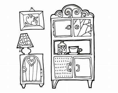 Living Furniture Coloring Coloringcrew