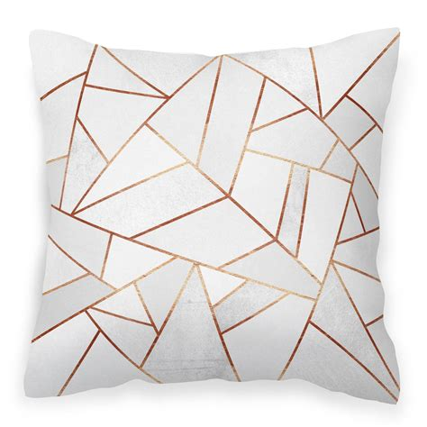 this plush vegan suede cushion cover features the artwork white copper designed by