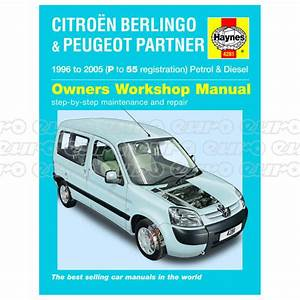 Haynes Workshop Manual Citroen Berlingo  U0026 Peugeot Partner
