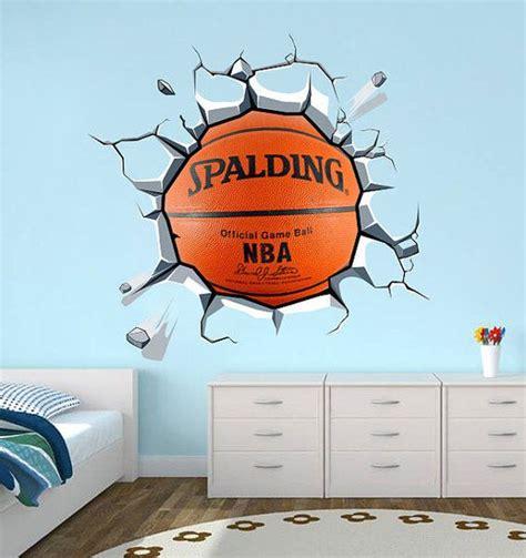 Wandtattoo Kinderzimmer Dawanda by Wandtattoo Aufkleber Basketball Effekt Wand Rissig
